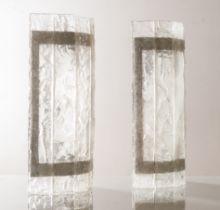 Coppia di applique in vetro di Murano, Anni '50/'60.