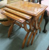 A nest of three reproduction tables Condition Report: Available upon request