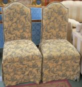 A pair of upholstered bedroom chairs (2) Condition Report: Available upon request