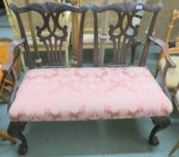 A Victorian mahogany parlour sofa, 93cm high x 110cm wide x 50cm deep Condition Report: Available