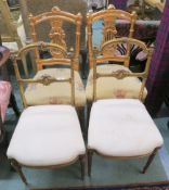 Two pairs of gilt parlour chairs (4) Condition Report: Available upon request