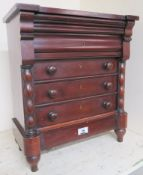 A Victorian mahogany apprentice piece chest of drawers, 46cm high x 40cm wide x 20cm Condition