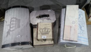 A collection of storage boxes in the form of trunks etc Condition Report: Not available for this