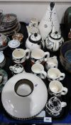 A collection of Ute Mountain Native American Pottery including pieces by Donna Bancroft Condition