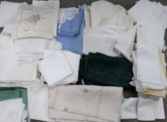 Assorted embroidered table linen Condition Report: Not available for this lot