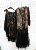 A collection of 1920's and 30's dresses, two judges capes etc Condition Report: Not available for