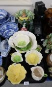 A collection of South African Mustardseed and Moonshine porcelain tablewares, a Royal Doulton Dainty