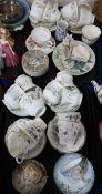 Assorted teawares including Coalport Tulip Tree, Queen's Strawberry Flower etc Condition Report: