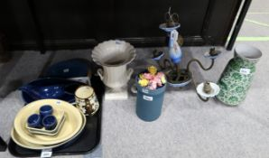 A Capodimonte four arm ceiling light, Denby tablewares etc Condition Report: Not available for