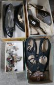 Three pairs of ladies vintage shoes, together with polished stones etc Condition Report: Not