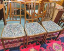 A set of three mahogany parlour chairs (3) Condition Report: Available upon request