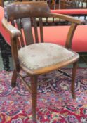 A William Birch chair with slat back (stamped W Birch GRV 1933) Condition Report: Available upon