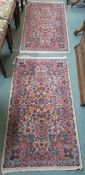 A pair of Karastan rugs with Kirman design, 123cm x 66cm (2) Condition Report: Available upon