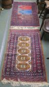 Two Eastern style rugs, 122cm x 82cm and an Eastern style runner, 154cm x 61cm (3) Condition Report: