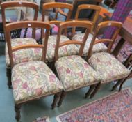 A set of six Victorian mahogany dining chair with turned legs (6) Condition Report: Available upon