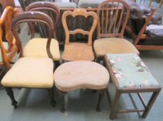 A pair of Victorian chairs, two stools and two other chairs (6) Condition Report: Available upon