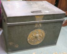 A Milners of Liverpool strong box, 46cm high x 61cm wide x 47cm deep Provenance: The Late Dr