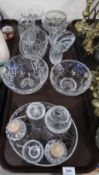 Assorted cut glass and crystal including Brierley, Webb Corbett and Edinburgh Condition Report: