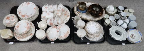 A Chapman teaset with orange printed floral decoration and assorted other ceramics Provenance: The