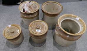 Assorted stoneware storage jars Provenance: The Late Dr Helen. E. C. Cargill Thompson Condition