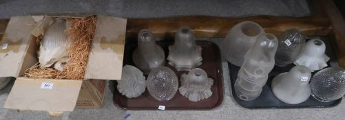Assorted glass light shades Provenance: The Late Dr Helen. E. C. Cargill Thompson Condition