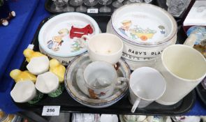 Two Mabel Lucie Attwell for Shelley nursery plates, another by Foley, Keith Murray tankard etc