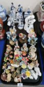 Assorted ceramic and other animals and figures Condition Report: Not available for this lot