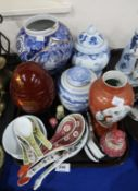 Assorted Chinese and Japanese ceramic jars, vases etc Condition Report: Not available for this lot