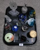 Caithness paperweights, scent bottles, Goeble bison etc Condition Report: Not available for this