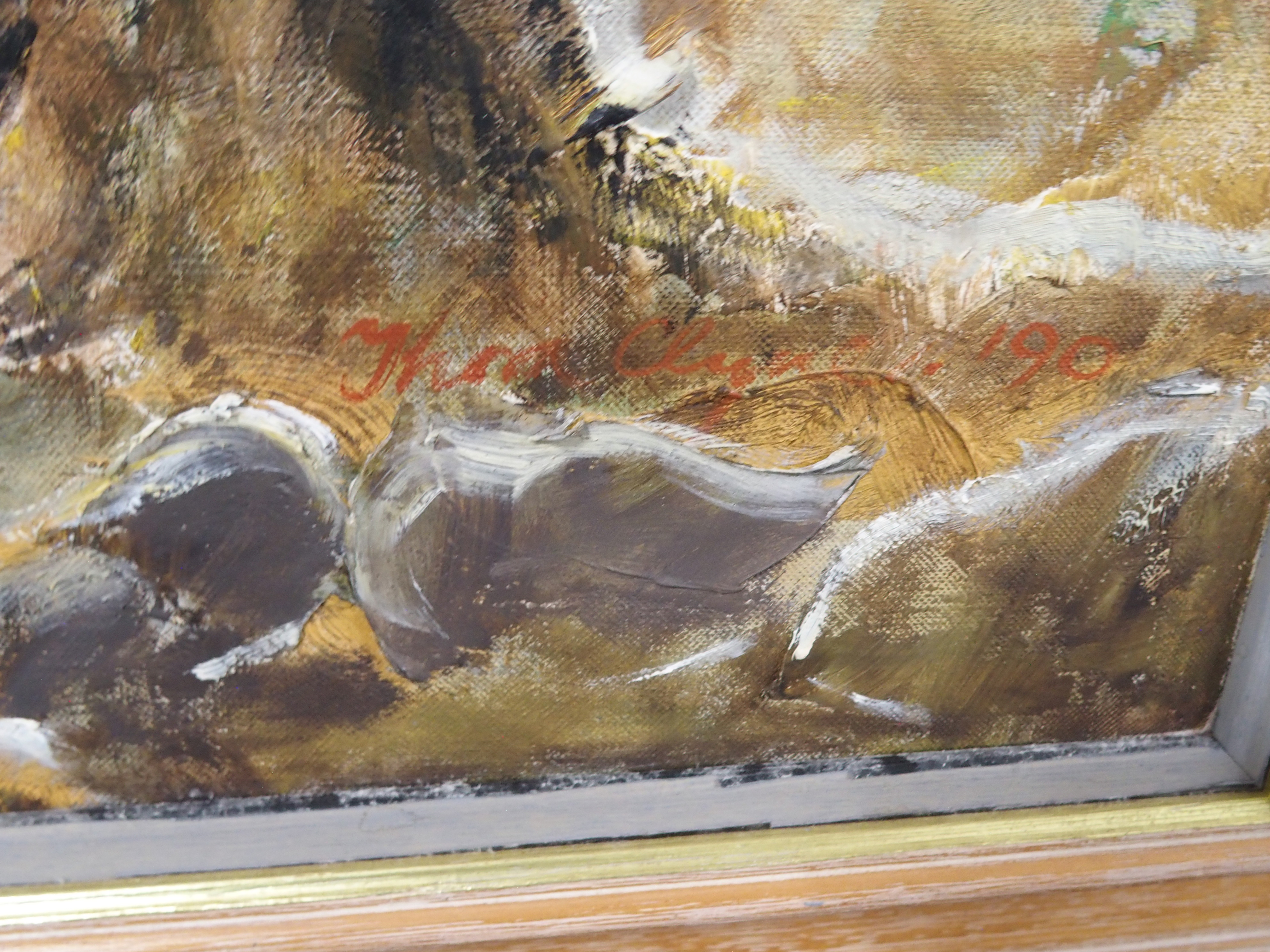 THORA CLYNE SSWA (SCOTTISH 1937-2020) FIELD OF VISION Oil on canvas, signed and dated (19)90, 71 x - Image 3 of 6
