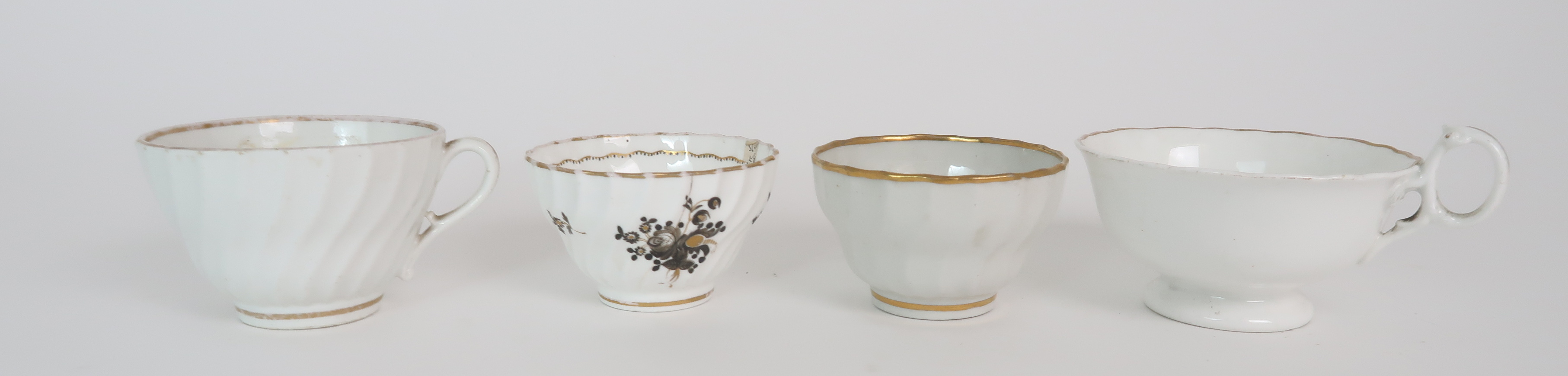A COLLECTION OF 19TH CENTURY ENGLISH TEA AND COFFEE WARES the white ground with either grey and gilt - Image 21 of 22
