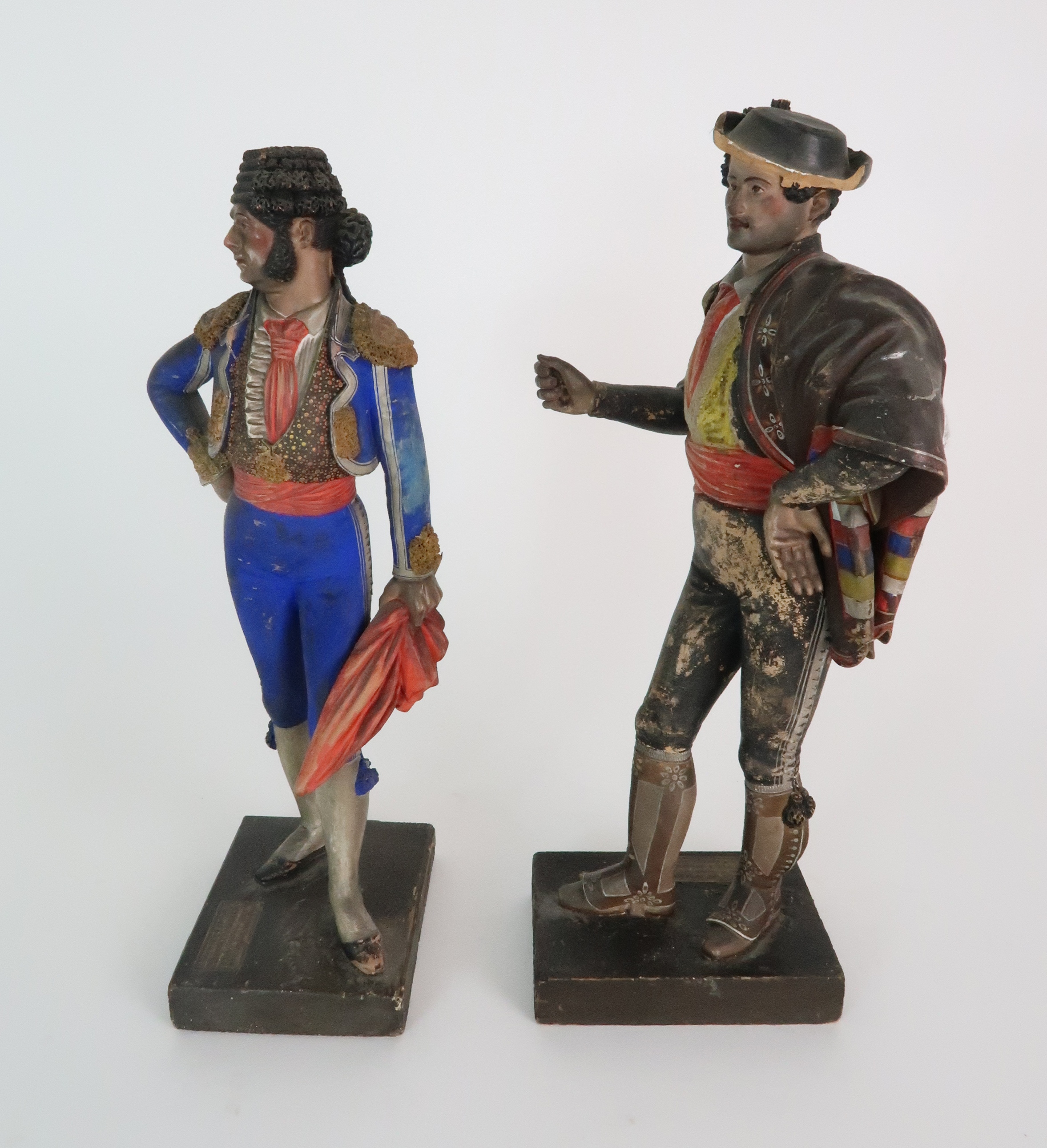 JOSE CUBERO, MALAGA - A PAIR OF MID 19TH CENTURY COLD PAINTED TERRACOTTA FIGURES one a matador, - Image 2 of 8