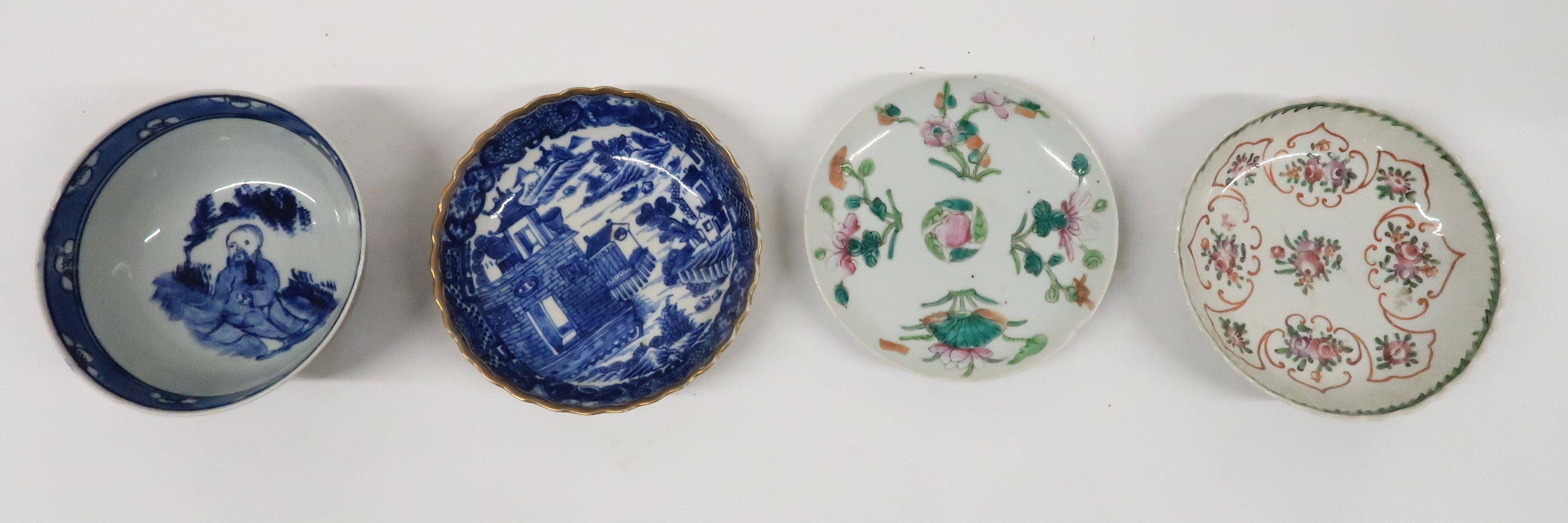 A COLLECTION OF CHINESE EXPORT TEAWARES and others including famille rose, Chien Lung, blue and - Image 18 of 22