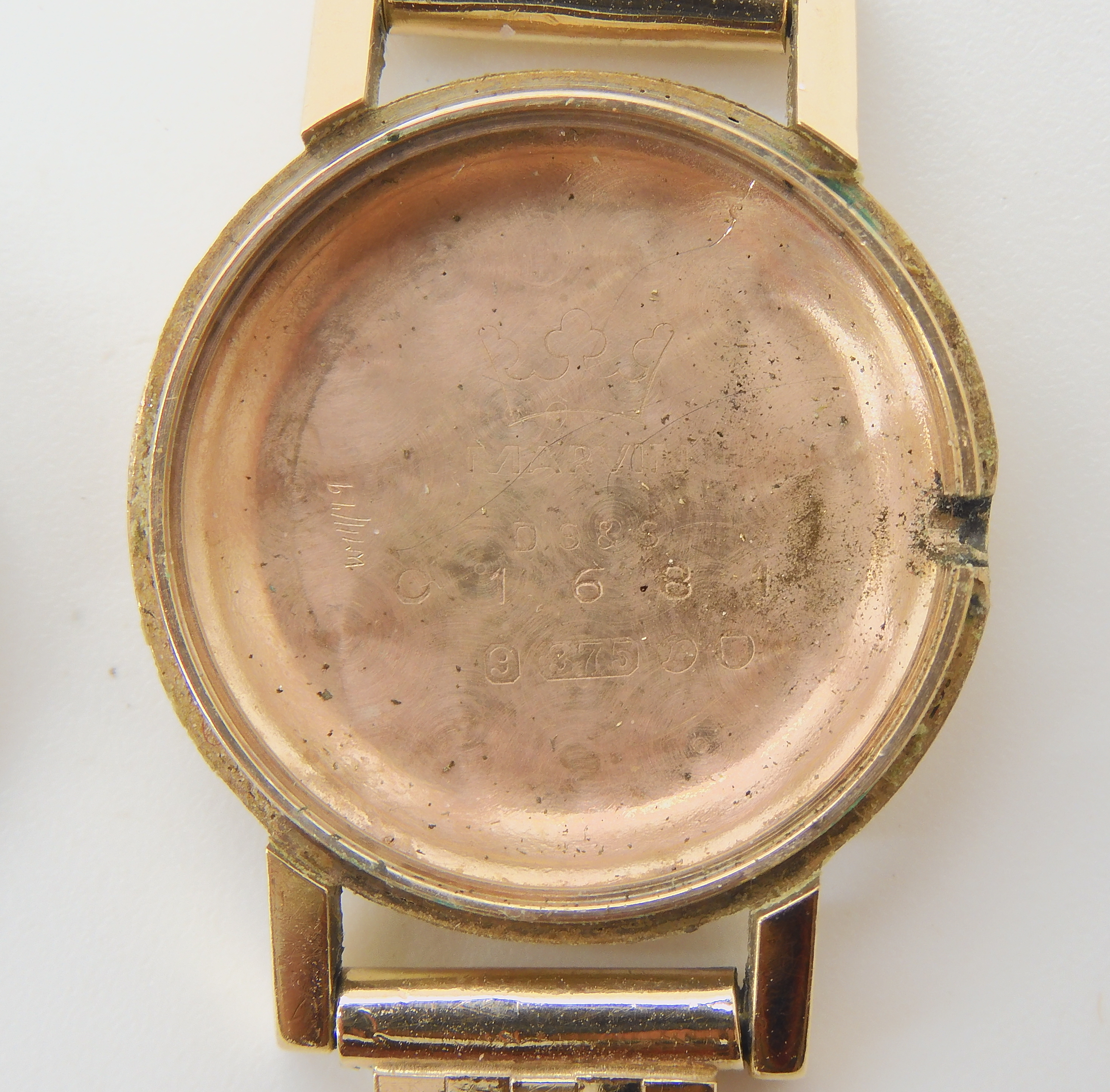 TWO 9CT GOLD LADIES MARVIN WATCHES the first with silvered dial black Roman numerals and baton - Image 4 of 5