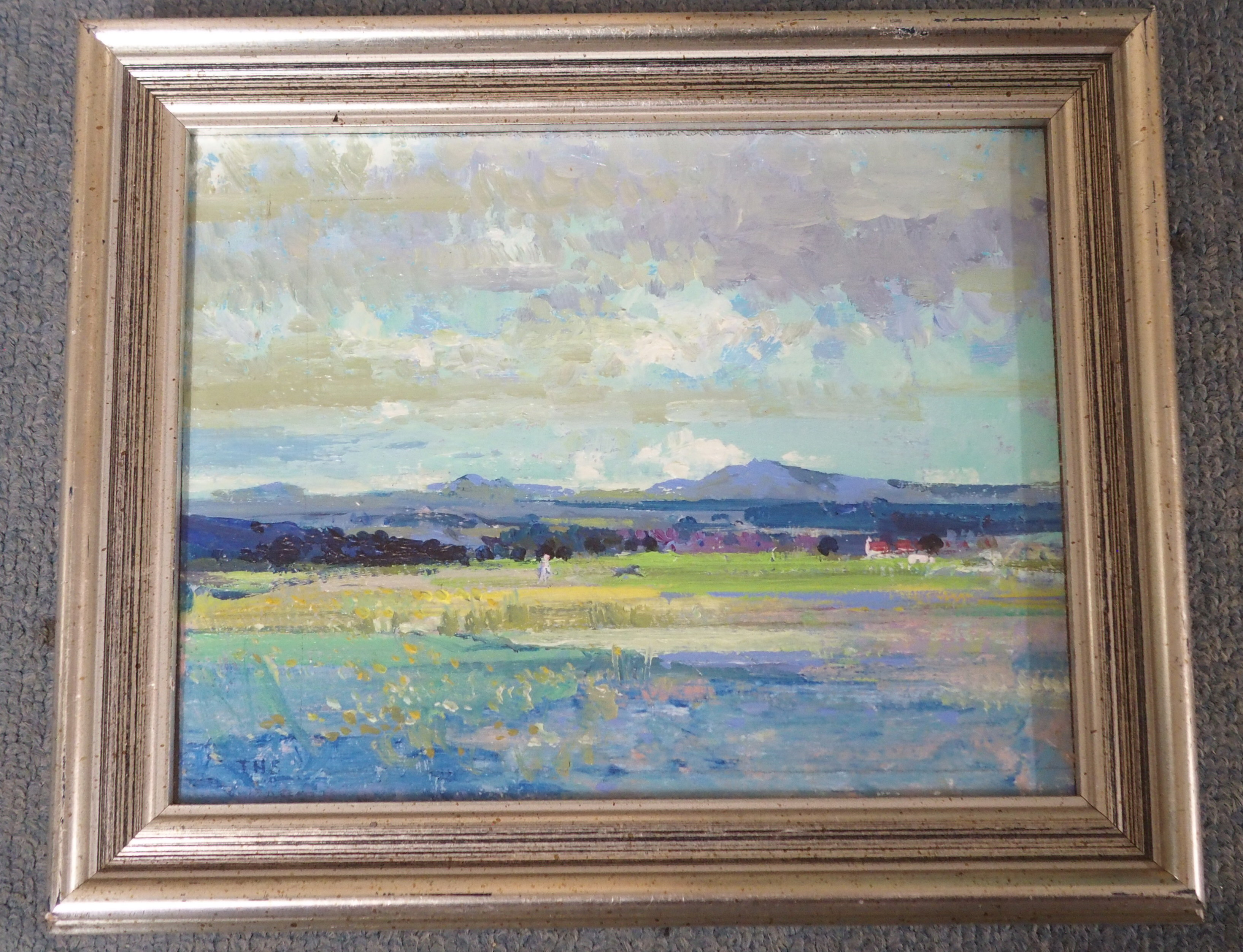 •TOM H SHANKS RSW, RGI (SCOTTISH 1921-2020) WALKING BONNIE Oil on board, signed with initials, 18 - Image 2 of 5