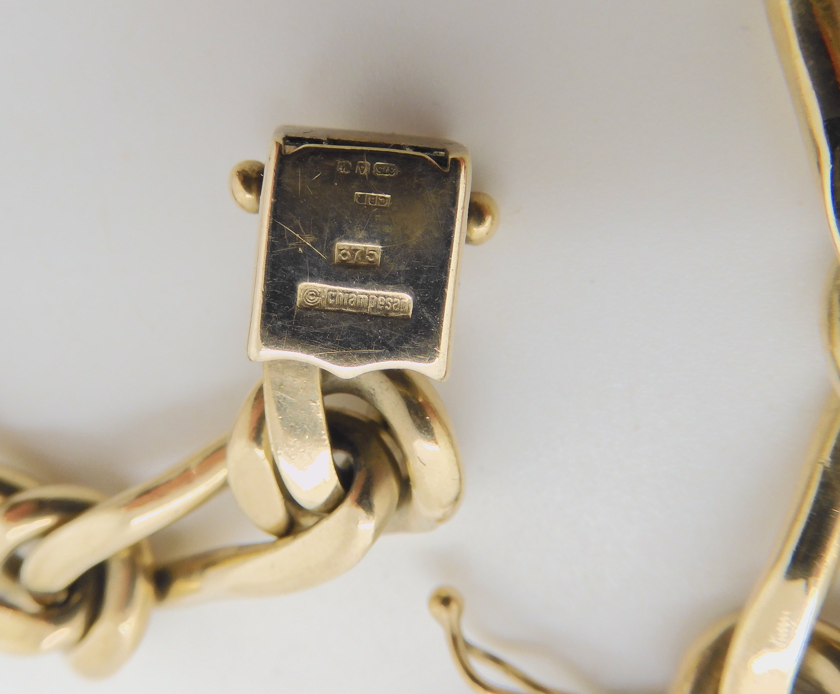 AN ITALIAN 9CT GOLD FANCY CHAIN BRACELET BY CHIAMPESAN length 19cm, weight 34.3gms Condition Report: - Image 2 of 2