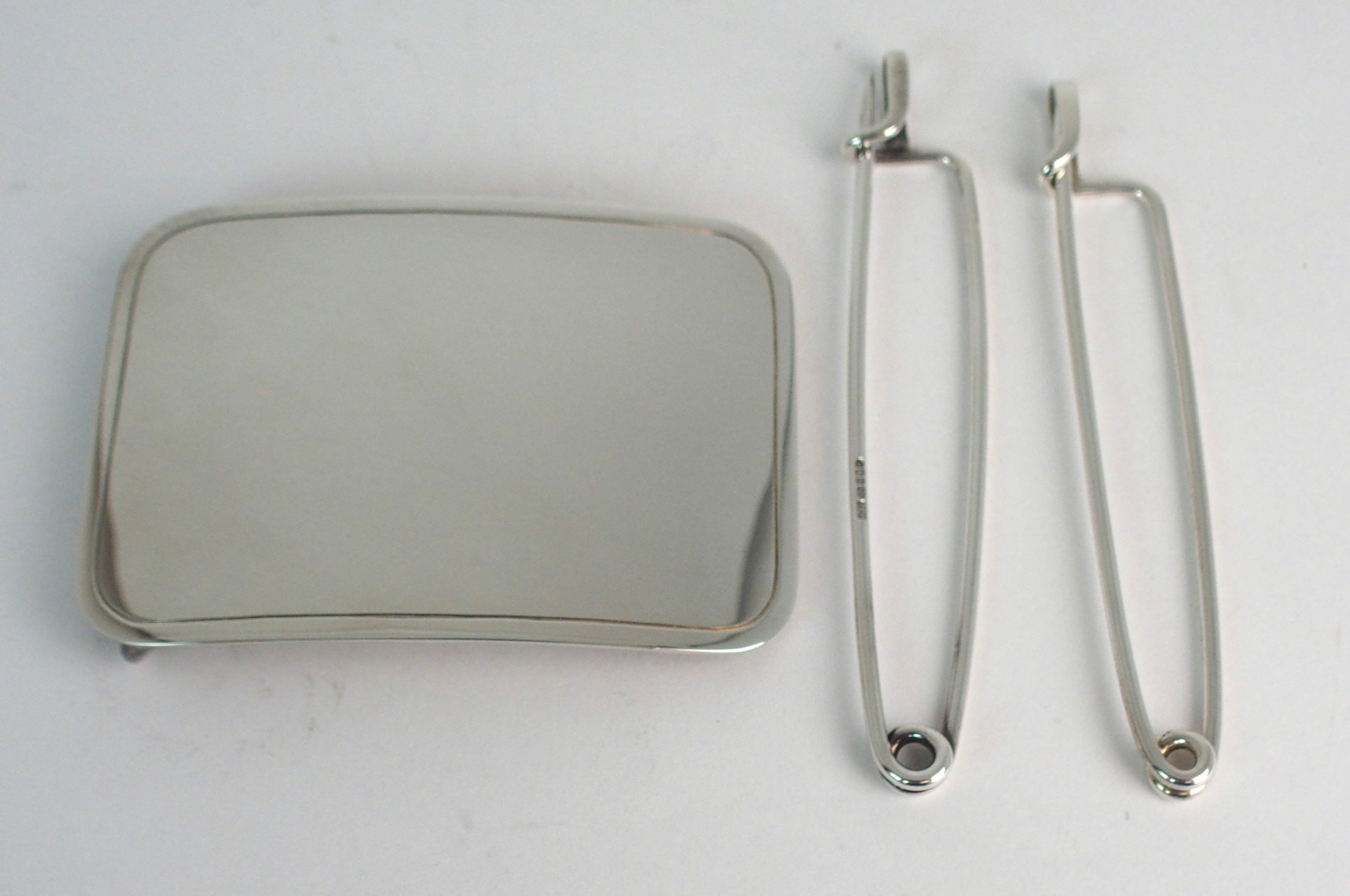 A HAMILTON & INCHES SILVER BELT BUCKLE and two Hamilton & Inches silver kilt pins (3) Condition