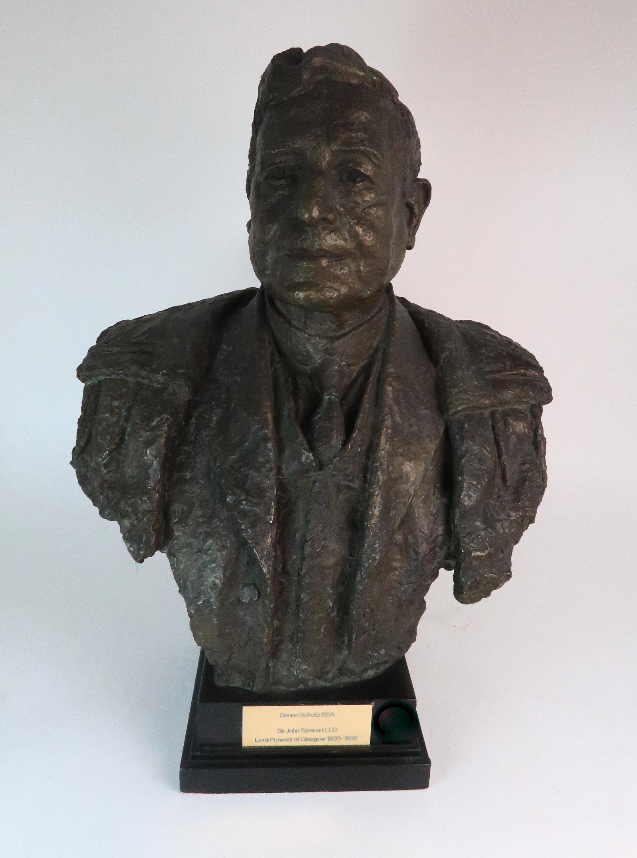 •BENNO SCHOTZ RSA (SCOTTISH 1891-1984) SIR JOHN STEWART LLD (LORD PROVOST OF GLASGOW 1935-1938)