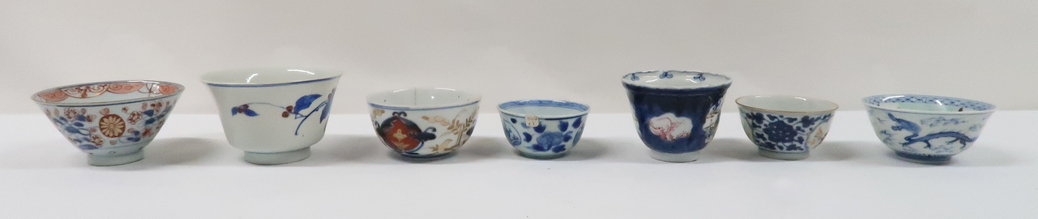 A COLLECTION OF CHINESE EXPORT TEAWARES and others including famille rose, Chien Lung, blue and - Image 3 of 22