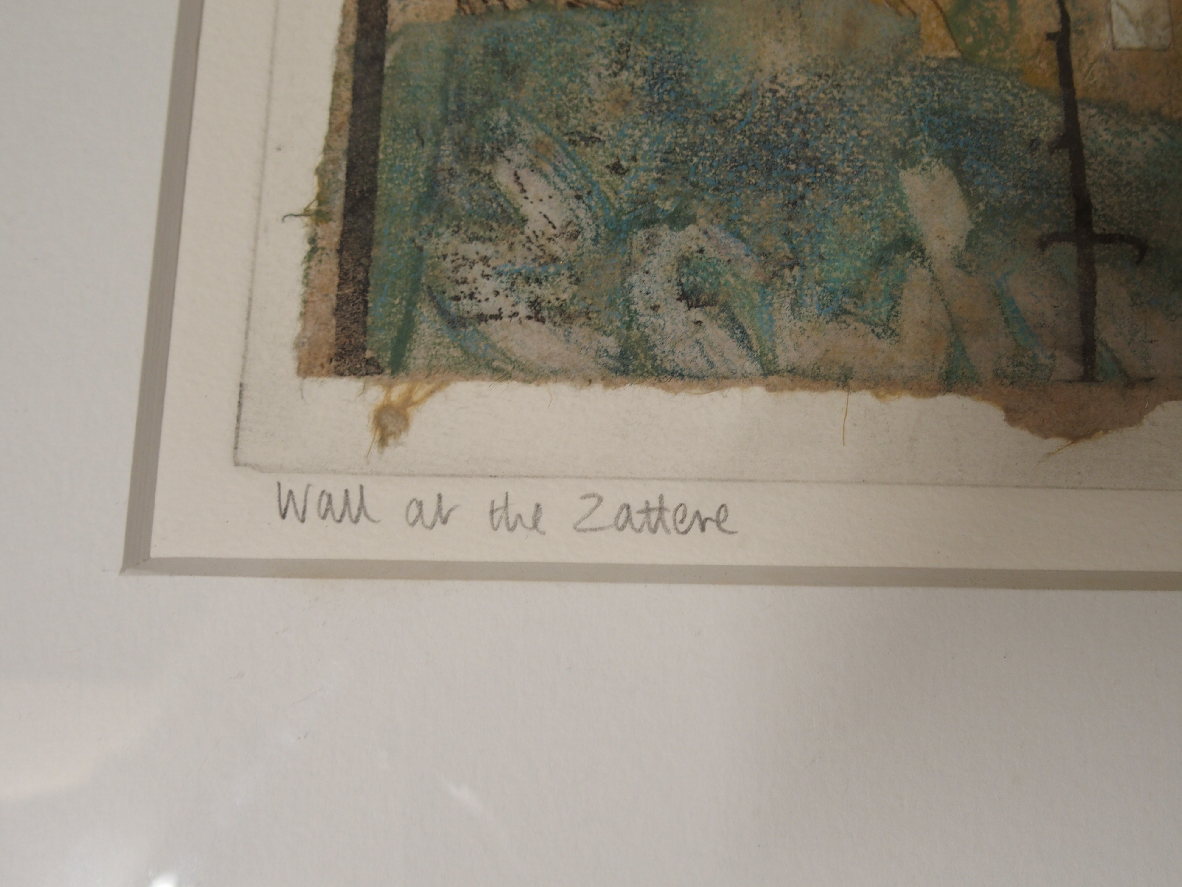 •VICTORIA CROWE OBE, RSA, RSW, FRSE (SCOTTISH B. 1945) WALL AT THE ZATTERE Mixed media on handmade - Image 4 of 7
