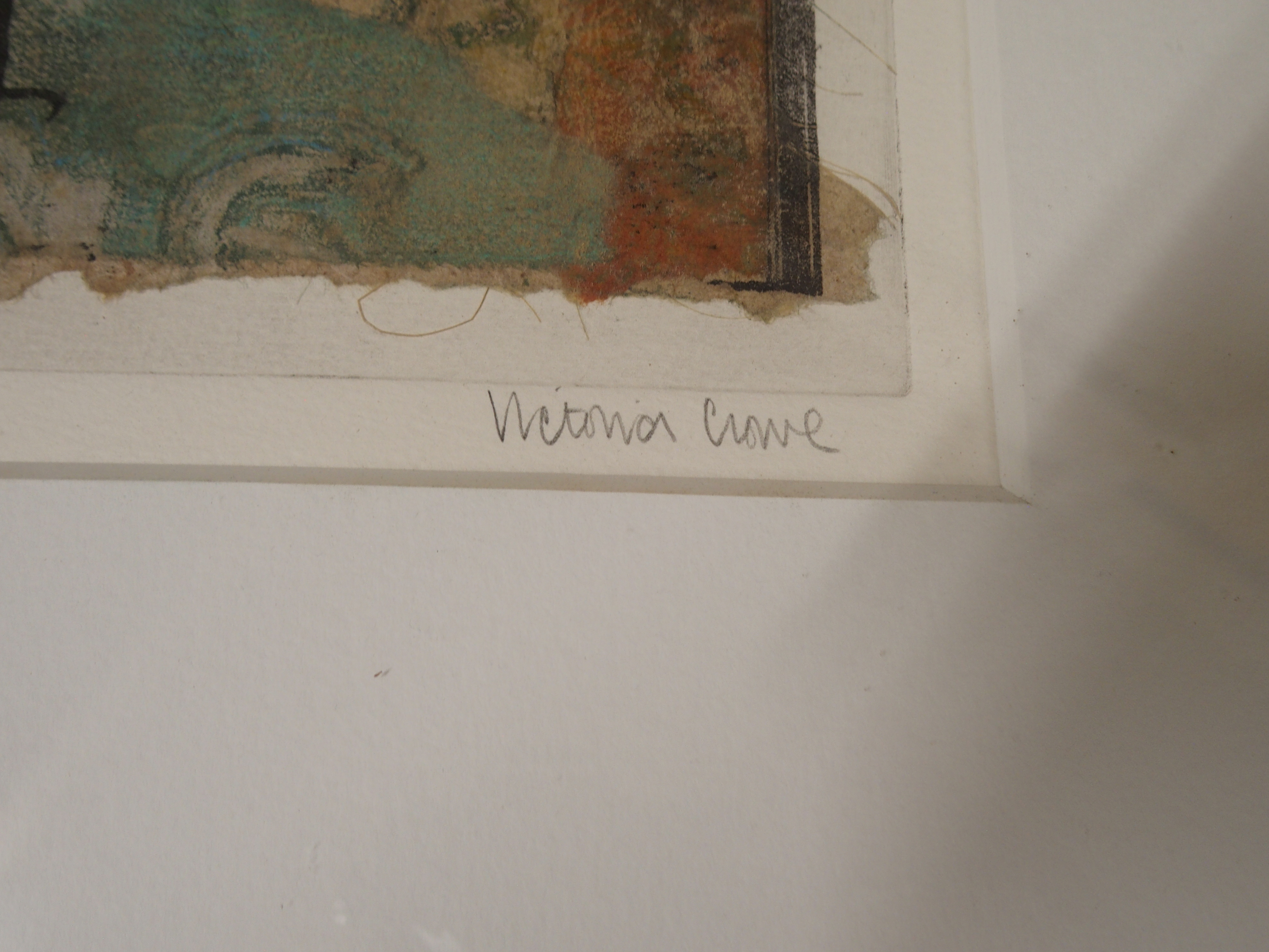 •VICTORIA CROWE OBE, RSA, RSW, FRSE (SCOTTISH B. 1945) WALL AT THE ZATTERE Mixed media on handmade - Image 3 of 7