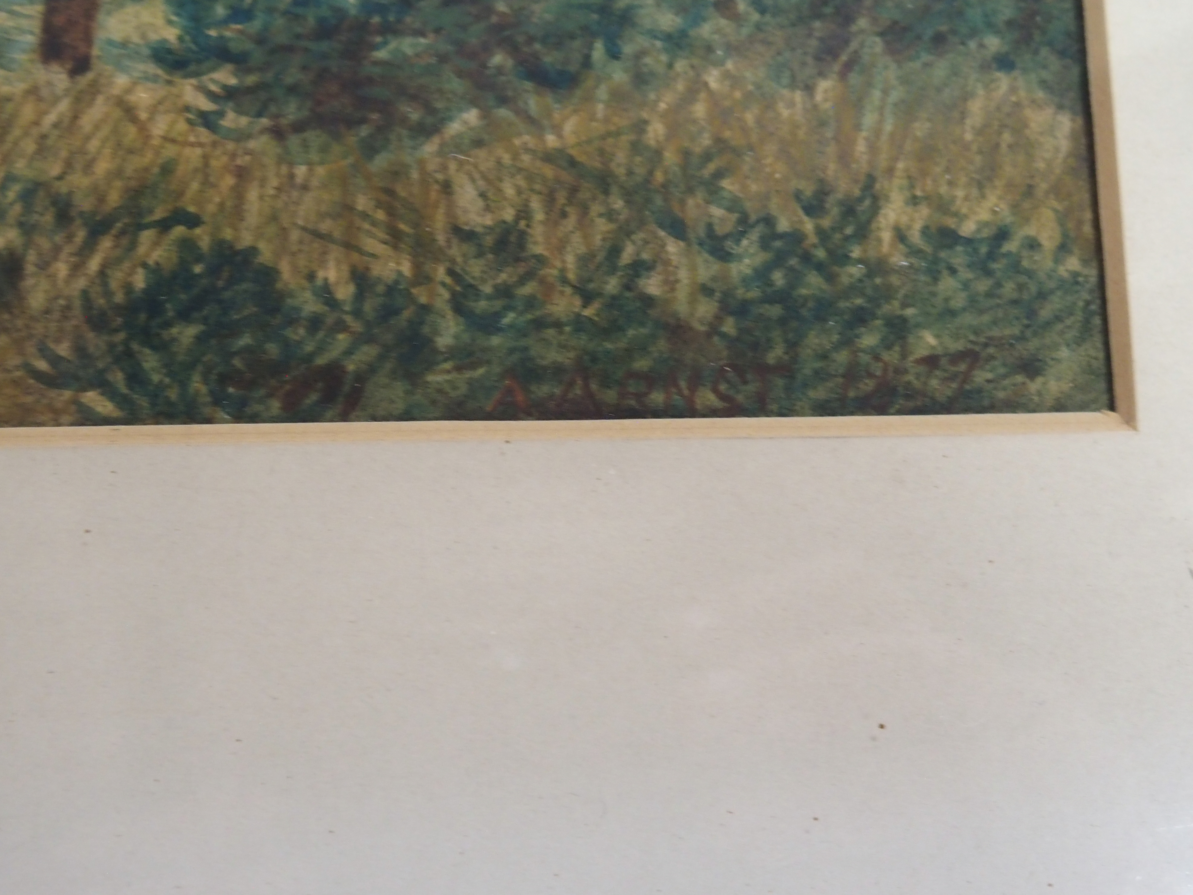 A ARNST (GERMAN 19TH CENTURY) PANORAMIC VIEW OF EDINBURGH Watercolour on paper laid on canvas, - Image 3 of 4