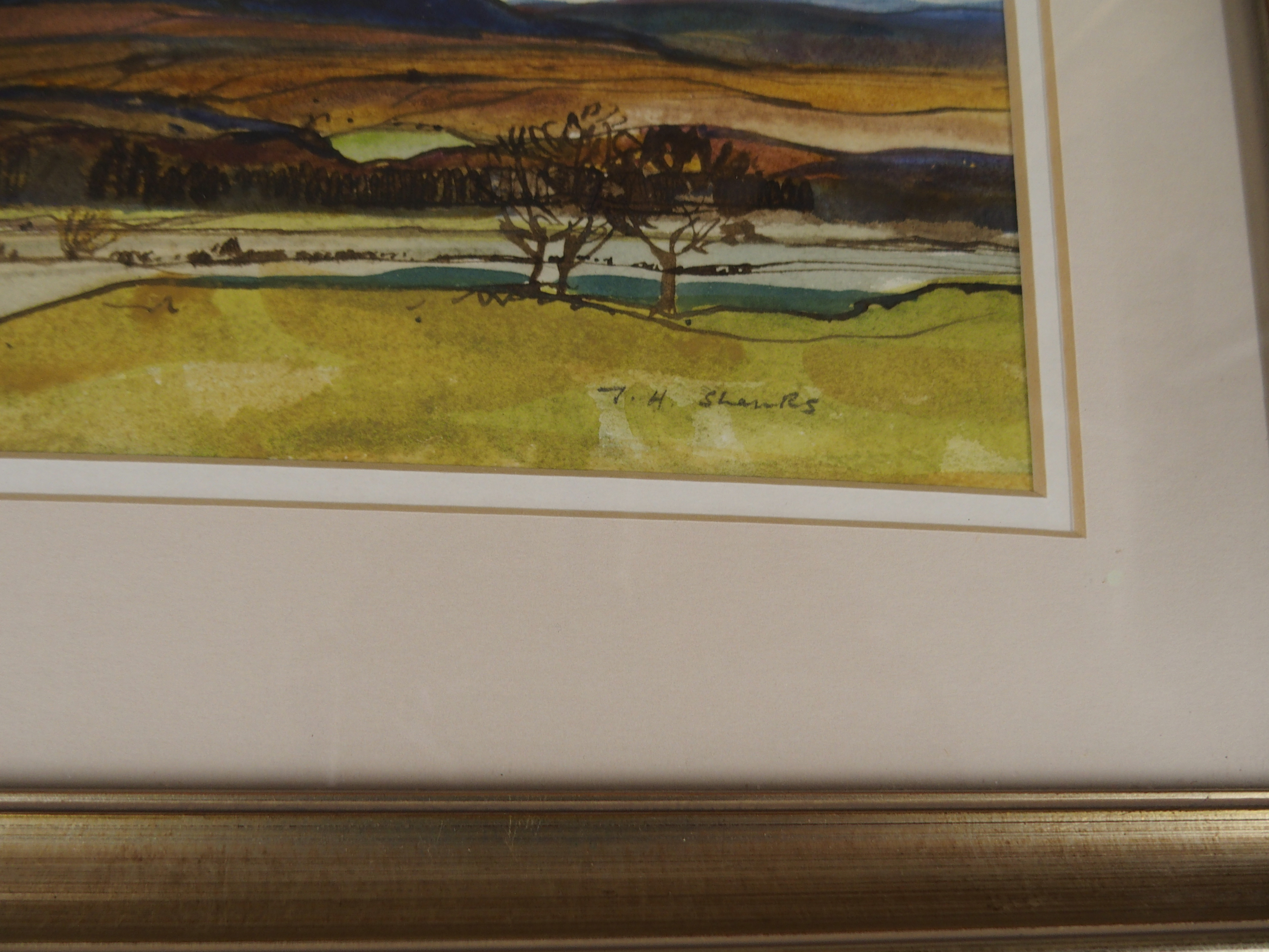 •TOM H SHANKS RSW, RGI (1921-1920) NEAR BALFRON Watercolour on paper, signed, 20 x 35cm (8 x 13 3/ - Image 3 of 4