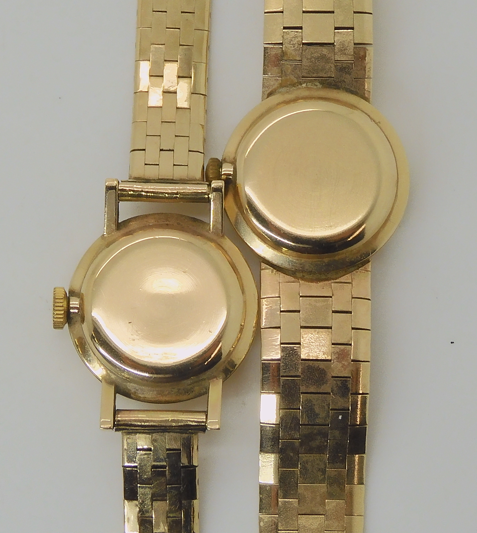 TWO 9CT GOLD LADIES MARVIN WATCHES the first with silvered dial black Roman numerals and baton - Image 2 of 5