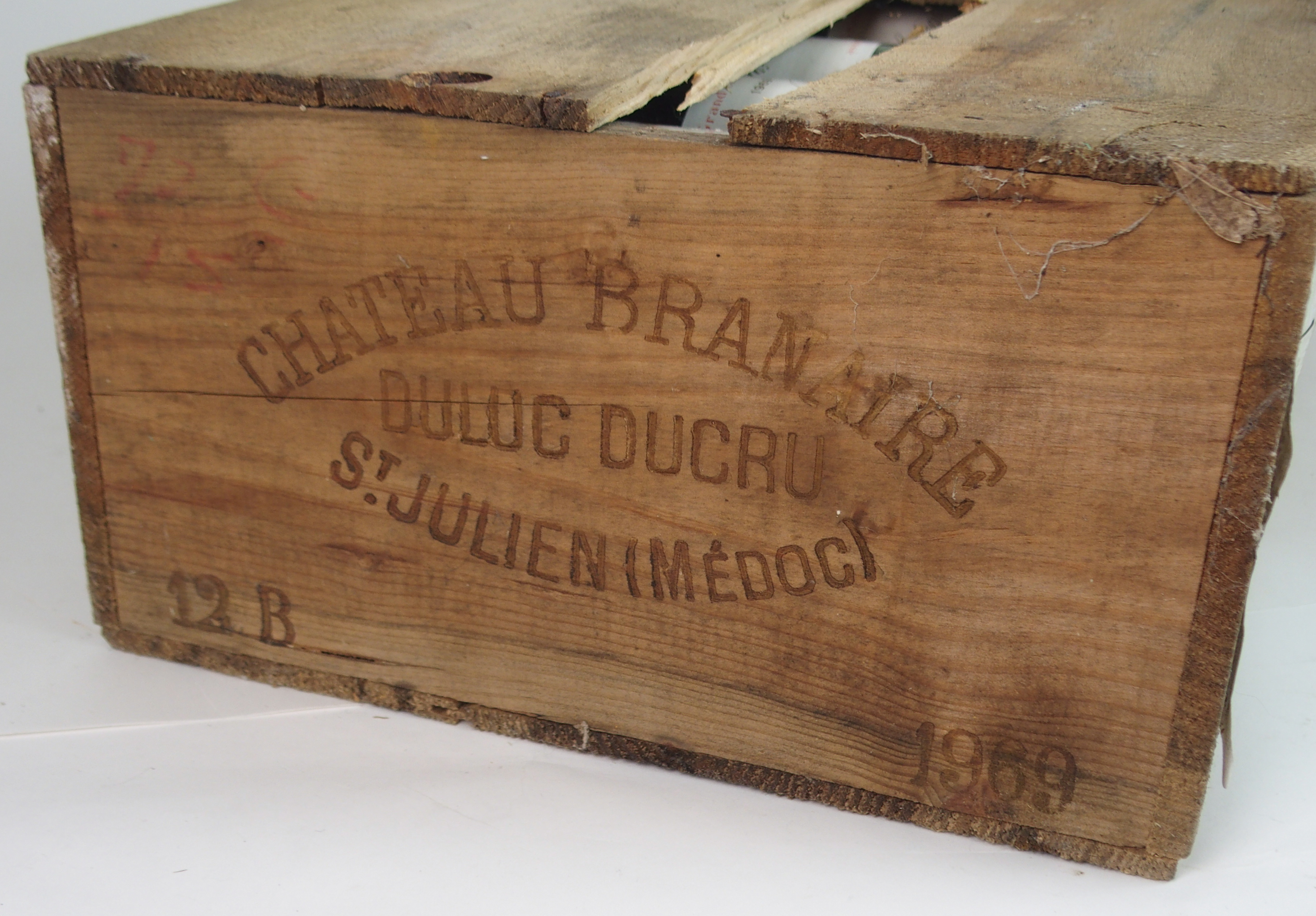 A CASE OF CHATEAU BRANAIRE DULUC DUCRU, ST. JULIEN, 1969 in wooden case Condition Report: - Image 5 of 5