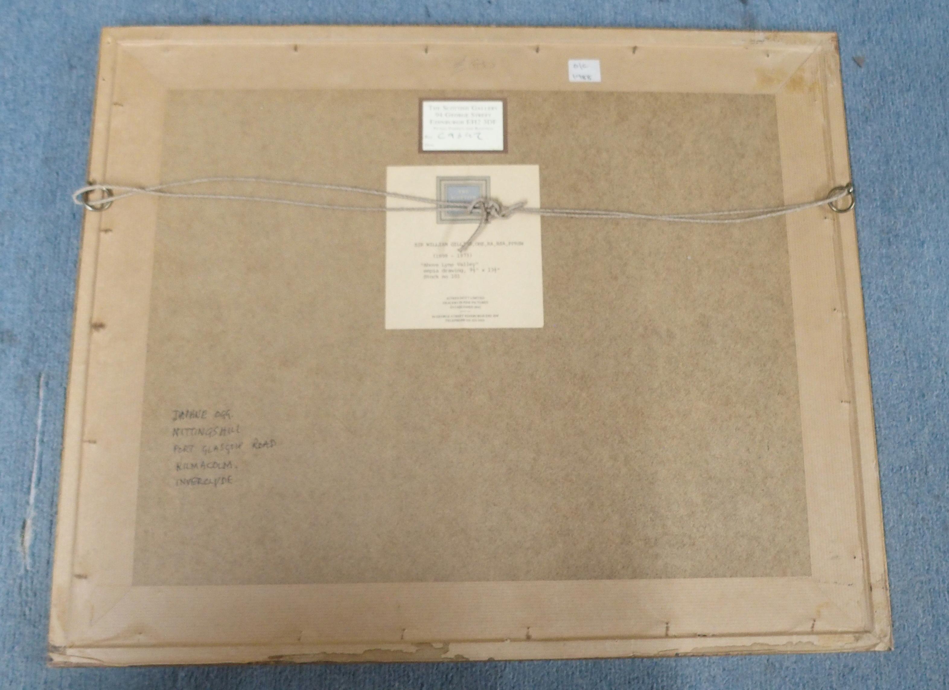 •SIR WILLIAM GEORGE GILLIES CBE, LLD, RA, RSA, PRSW (SCOTTISH 1898-1973) ABOVE LYNE VALLEY Pencil - Image 5 of 5