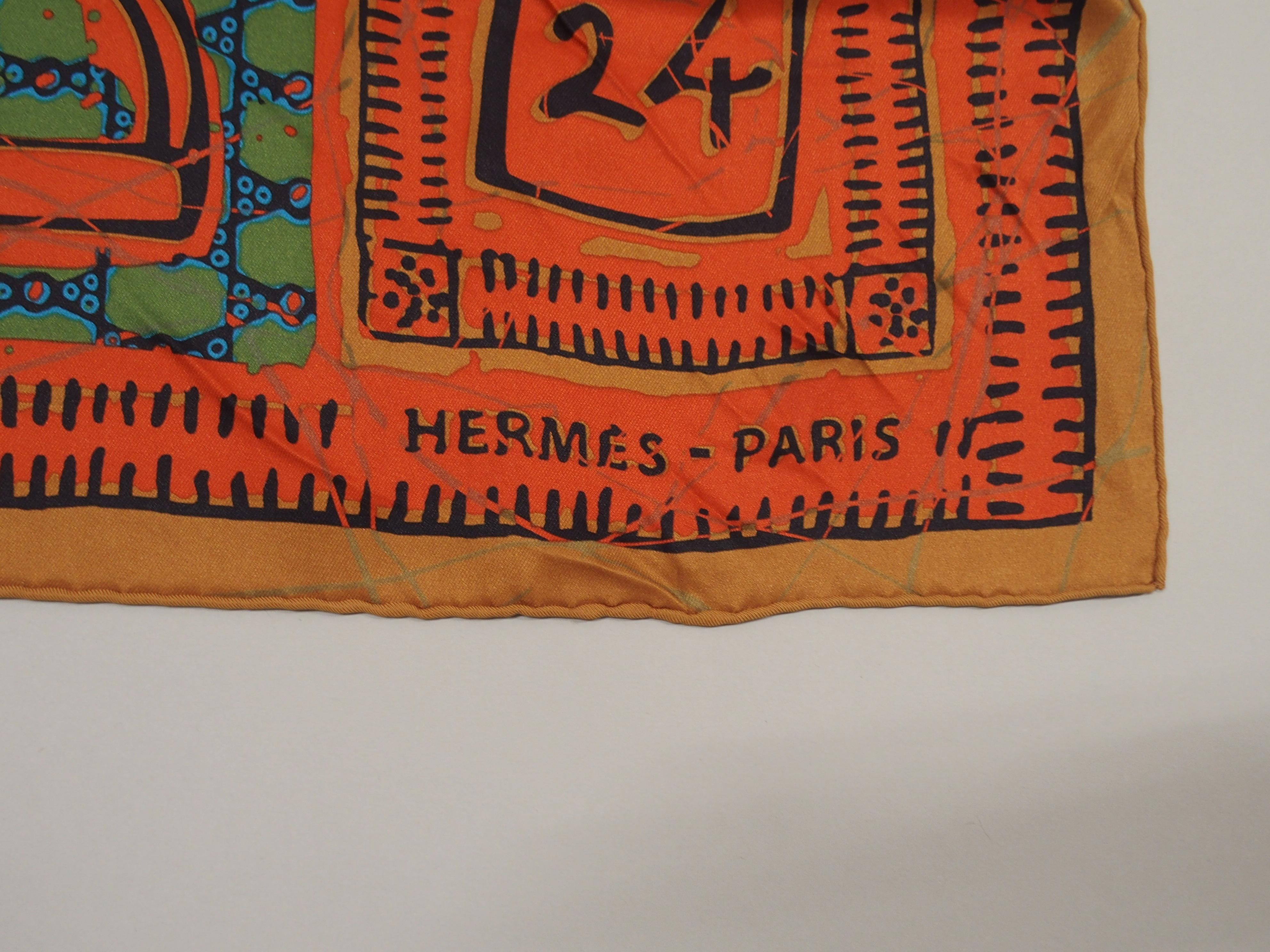 AN ORIGINAL LE BOUBOU H HERMES SILK SCARF designed by Karen Petrossian, in original box, 70 x 70cm - Image 3 of 5