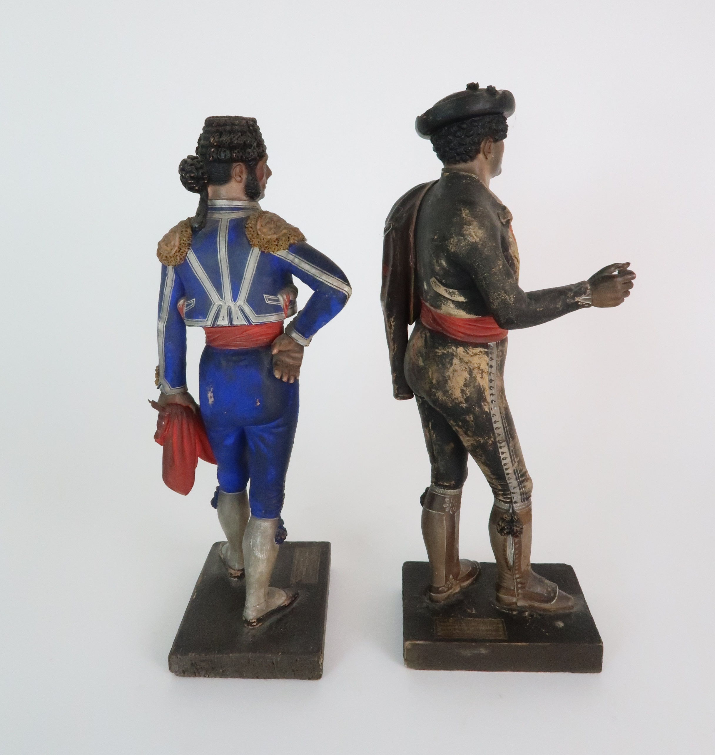 JOSE CUBERO, MALAGA - A PAIR OF MID 19TH CENTURY COLD PAINTED TERRACOTTA FIGURES one a matador, - Image 4 of 8