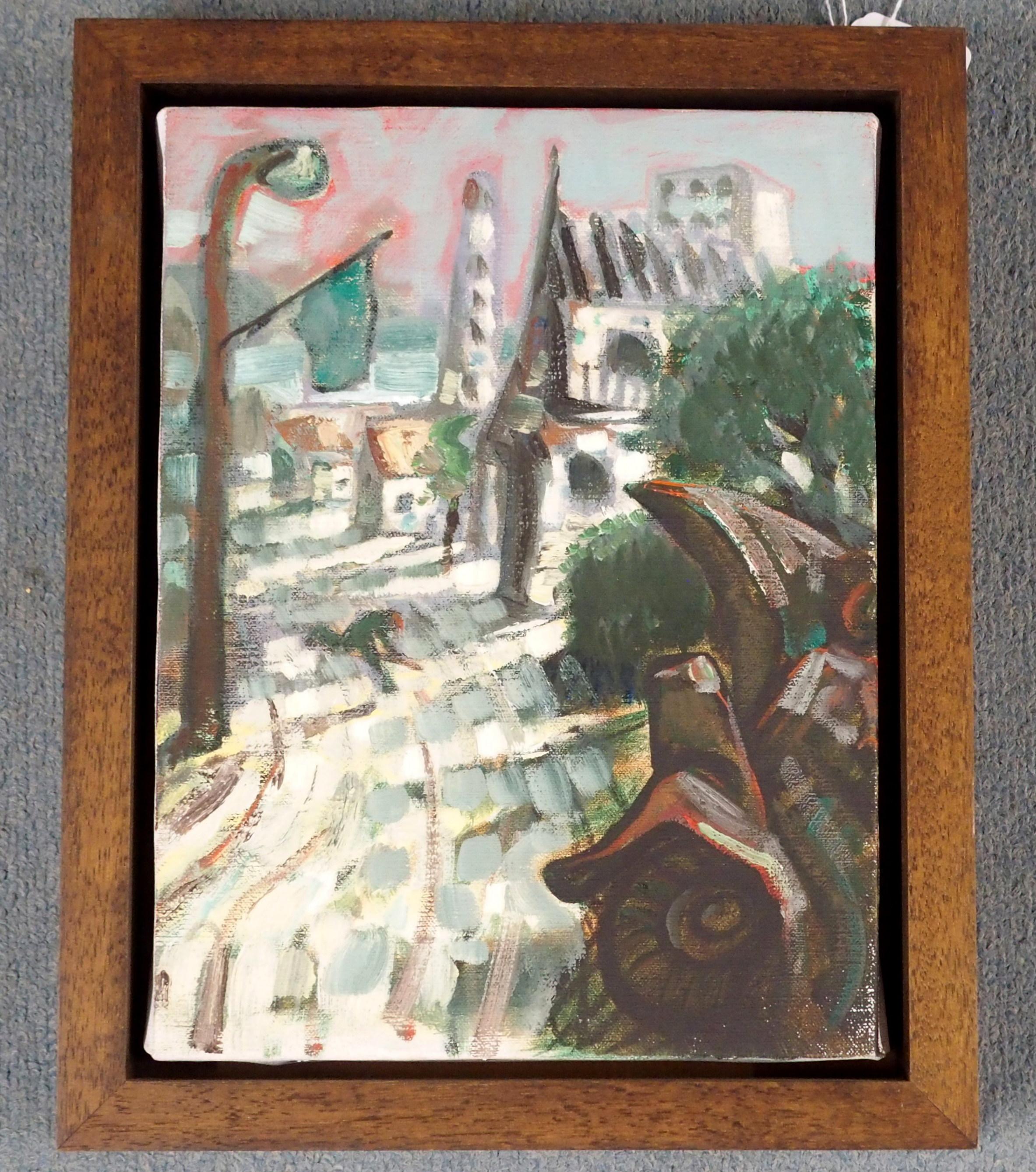 "•PETER HOWSON OBE (SCOTTISH B. 1958) STARI VITEZ Oil on canvas, 30.5 x 23cm (12 x 8 1/2"") - Image 2 of 4"