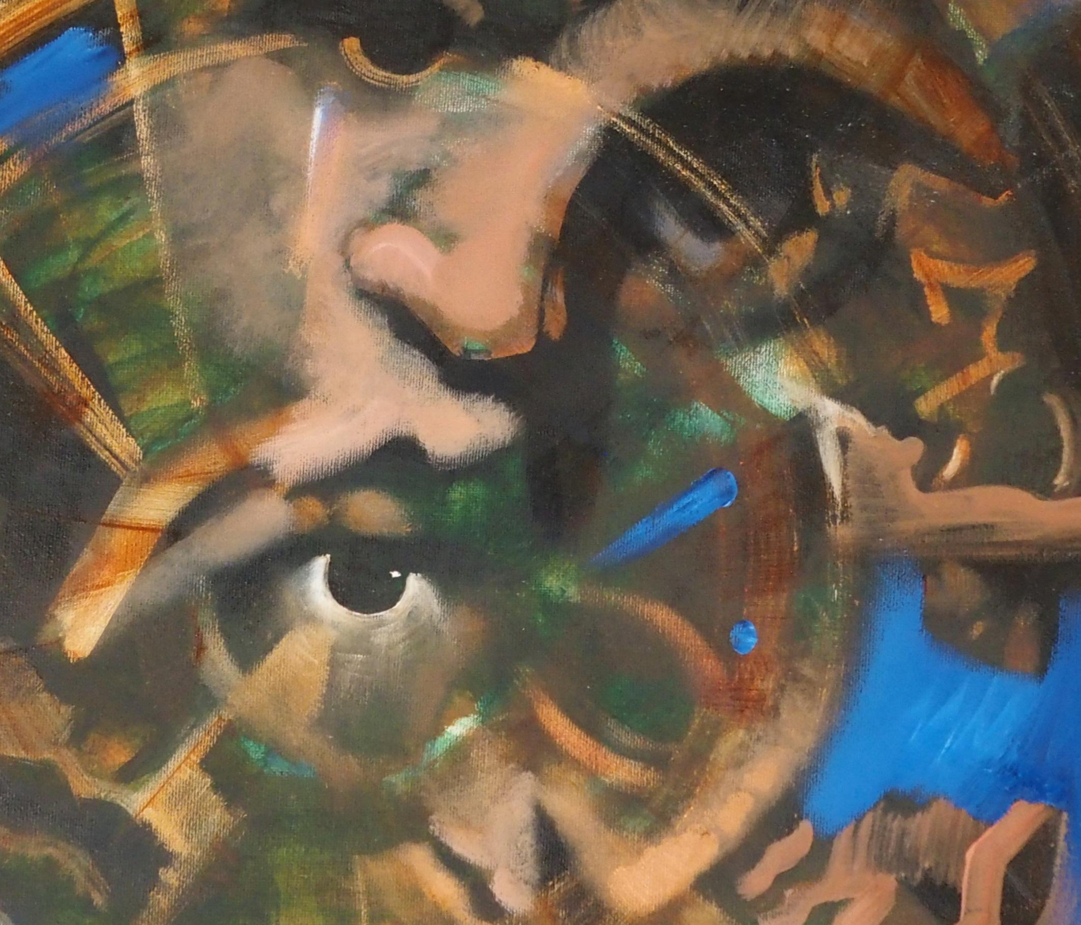 "•FRANK MCFADDEN (SCOTTISH B. 1972) VORTEX Oil on canvas, signed, 40 x 50cm (15 3/4 x 19 3/4"")"